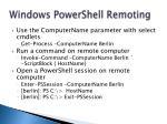 windows powershell remoting