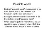 possible world