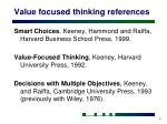 value focused thinking references
