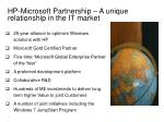 hp microsoft partnership a unique relationship in the it market