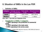 ii situation of smes in the lao pdr