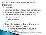 iii swot analysis of asean economic integration3