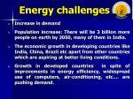 energy challenges