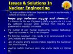 issues solutions in nuclear engineering