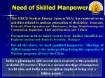 need of skilled manpower