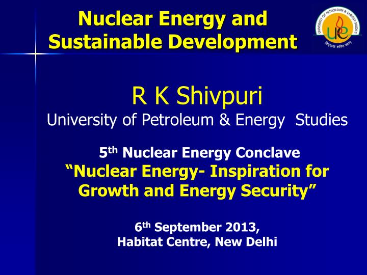 nuclear energy and sustainable development n.