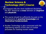 nuclear science technology nst course1