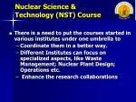 nuclear science technology nst course2