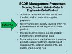 scor management processes sourcing stocked make to order engineer to order product