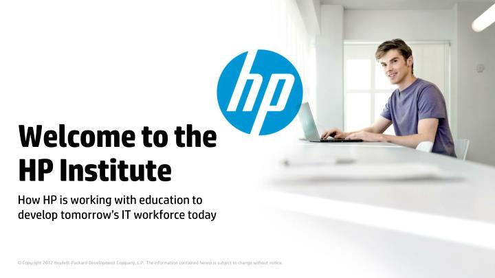 welcome to the hp institute n.