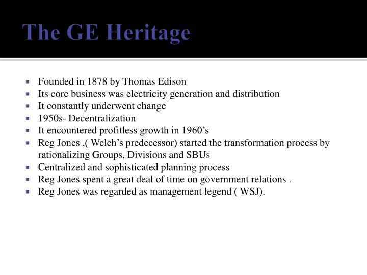 The ge heritage