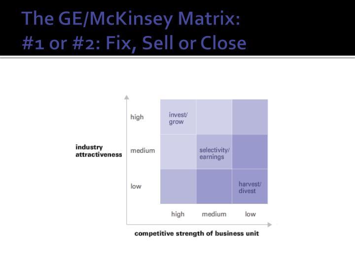 The GE/McKinsey Matrix: