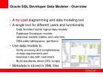 oracle sql developer data modeler overview