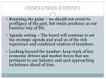 conclusion contd