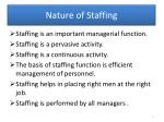 nature of staffing