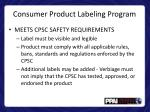 consumer product labeling program