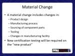 material change