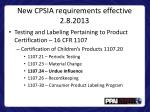 new cpsia requirements e ffective 2 8 20131