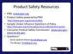 product safety resources