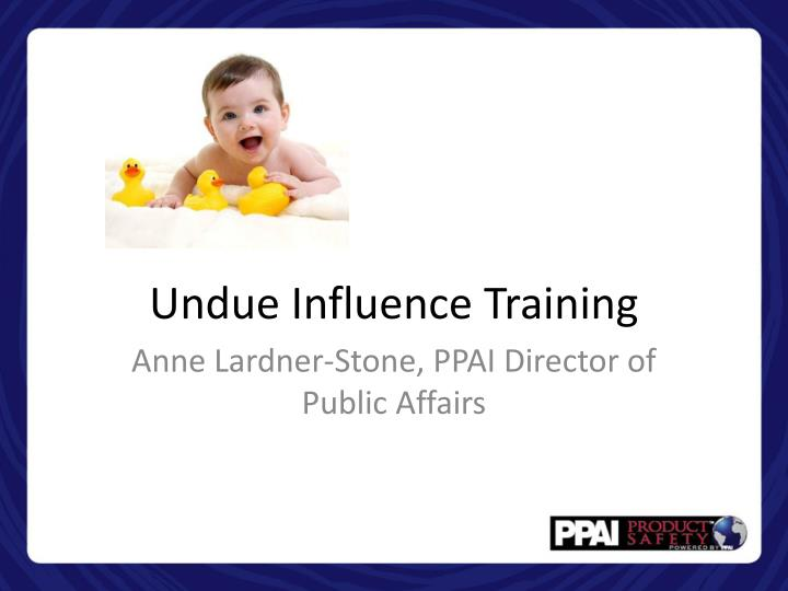 undue influence training n.
