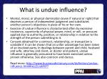 what is undue influence