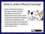 what is undue influence training