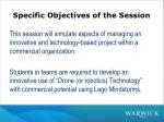 specific objectives of the session