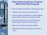 state rental assistance program srap doe pilot program