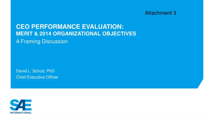 ceo performance evaluation merit 2014 organizational objectives n.