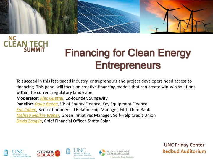 financing for clean energy entrepreneurs n.