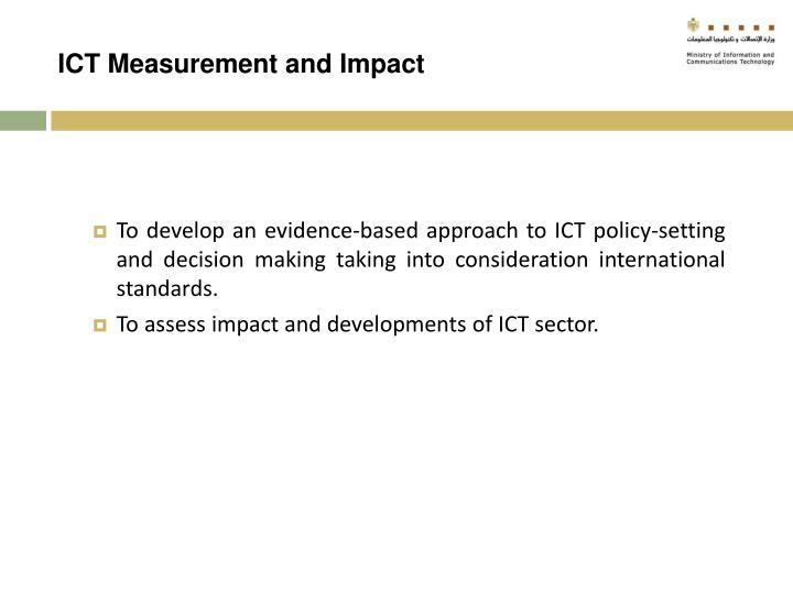 ICT Measurement and Impact