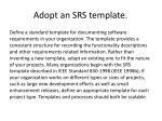 adopt an srs template