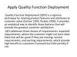apply quality function deployment