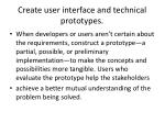 create user interface and technical prototypes