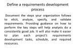 define a requirements development process