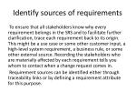 identify sources of requirements
