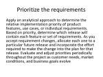 prioritize the requirements