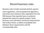 record business rules
