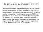 reuse requirements across projects