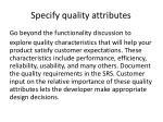 specify quality attributes