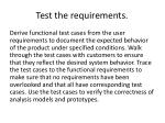 test the requirements