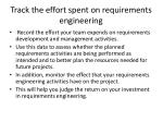 track the effort spent on requirements engineering