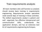 train requirements analysts