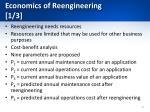 economics of reengineering 1 3