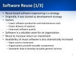 software reuse 1 3