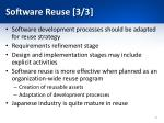 software reuse 3 3