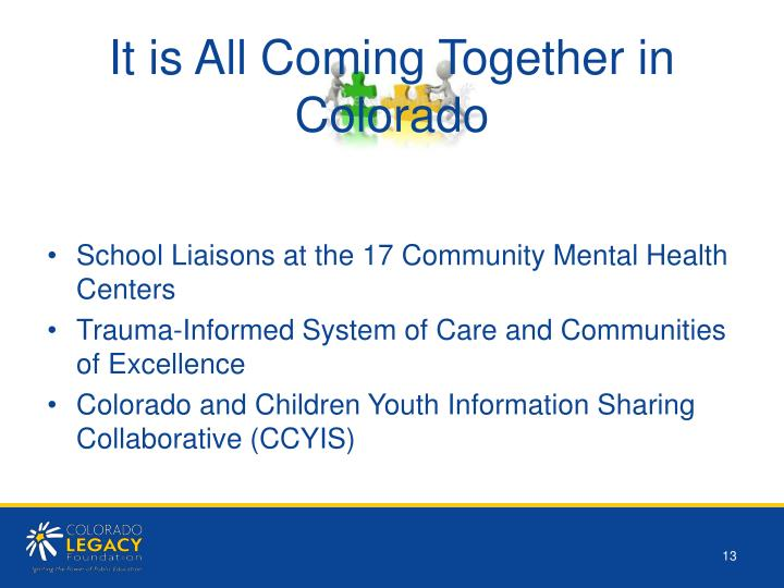 It is All Coming Together in Colorado