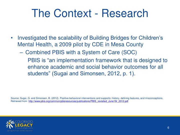 The Context - Research