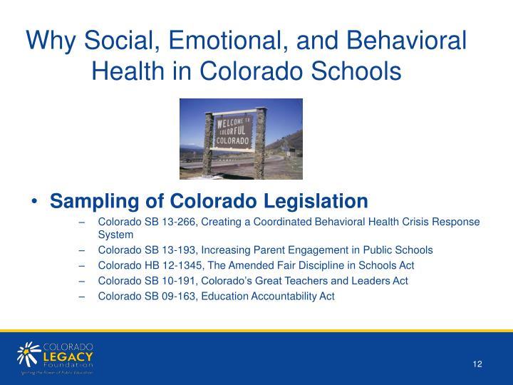 Why Social, Emotional, and Behavioral Health in Colorado Schools