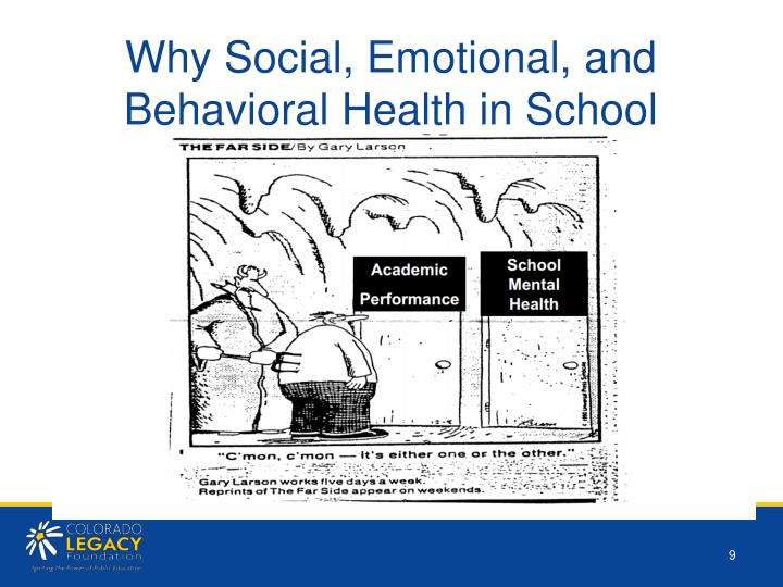 Why Social, Emotional, and Behavioral Health in School